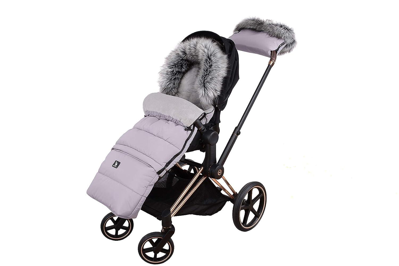 Fußsack Schlafsack Cottonmoose Footmuff Combi Yukon Mit Fell Zum Kinderwagen Sportwagen Autositz Gray Baby