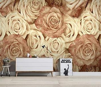 Papel Tapiz Fotográfico 3D Fantasy Creativo Flor Color De Rosa Placa Fondo Papel Pintado De La