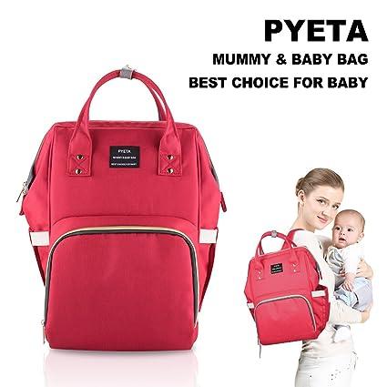 Bolsa para pañales tipo mochila, impermeable, multifunción, para el cuidado del bebé, de gran capacidad, elegante y duradera, perfecta para viajes, ...