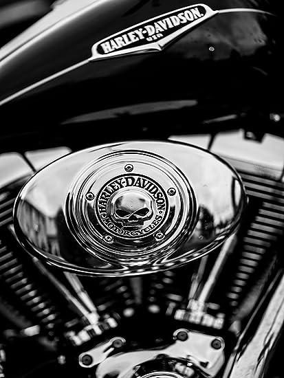 Amazon.com: Motocicleta Cartel de la motocicleta Harley ...