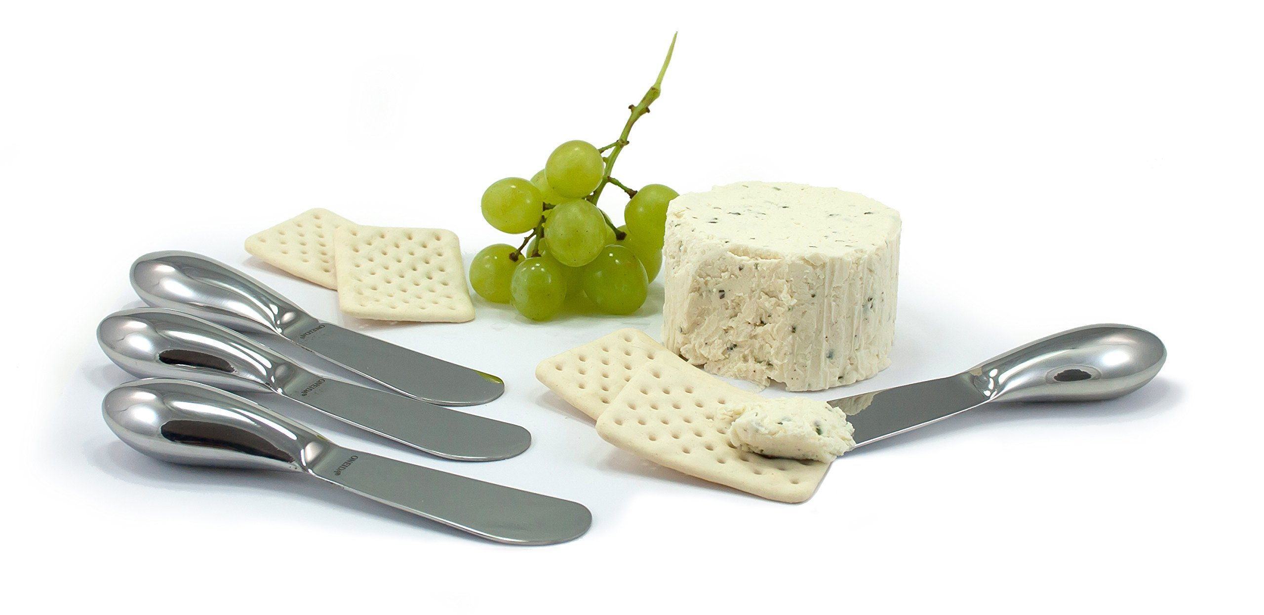 Oneida 4-Piece Cheese Spreader Set, Stainless Steel