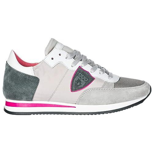 Philippe Model Tropez Zapatillas Deportivas Mujer mondial Gris: Amazon.es: Zapatos y complementos