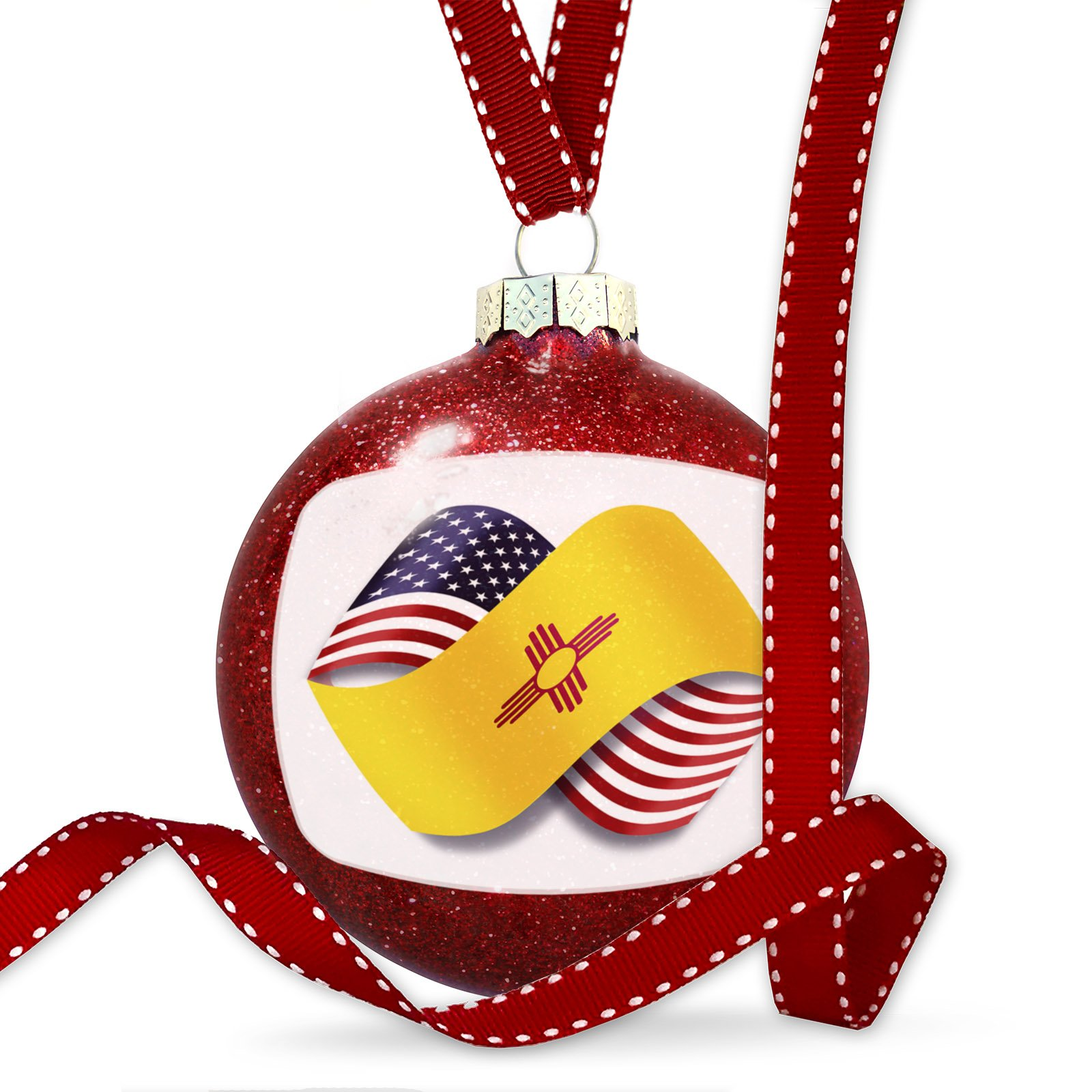 Christmas Decoration Infinity Flags USA and New Mexico region America (USA) Ornament
