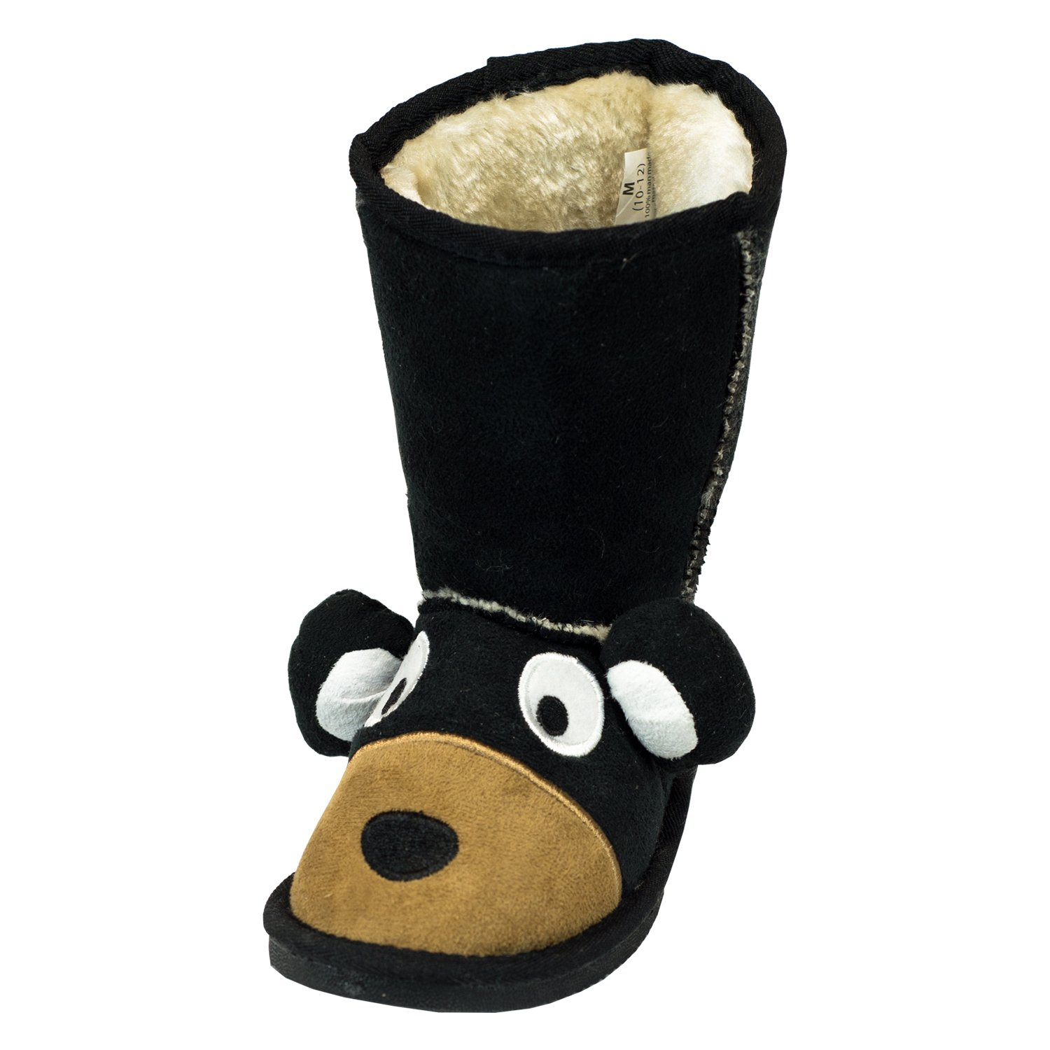 Bear Boot Cute Animal Character Slippers for Kids by LazyOne | Boys and Girls Creature Slipper Boots (Medium)
