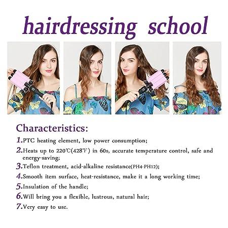 Amazon.com: Hair Waver Hair Curling Iron Curling Wands Hair Curler 14x4 Tourmaline Ceramic Hair Crimper Long Hair 3 Barrel Waver Instant Heat Curler Deep ...