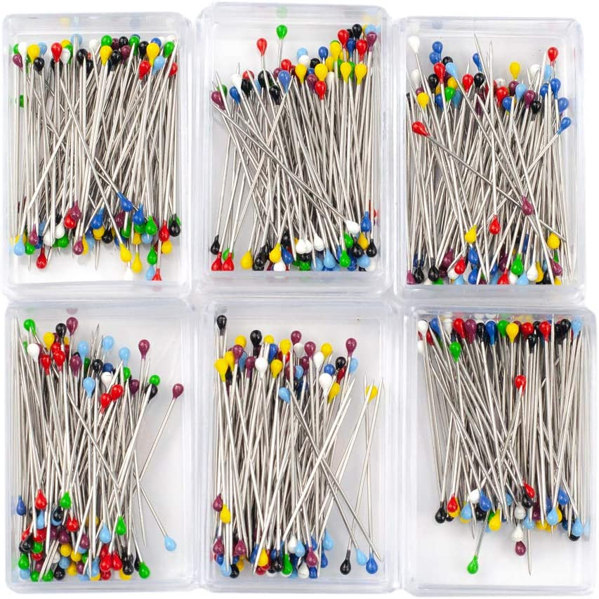 1 Pack Decorative Sewing Mixed Colors Ball Head Pins 3cm Round Manmade Corsage Pin Straight Dressmaking Pins Approx 1.20in
