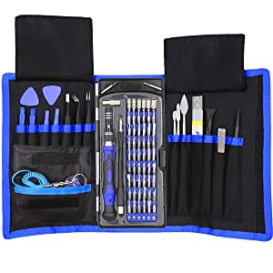 XOOL 80 in 1 Precision Screwdriver Set with Magnetic Driver Kit, Professional Electronics Repair Tool Kit with Portable Oxford Bag for Repair Cell Phone, iPhone, iPad, Watch, Tablet, PC, MacBook