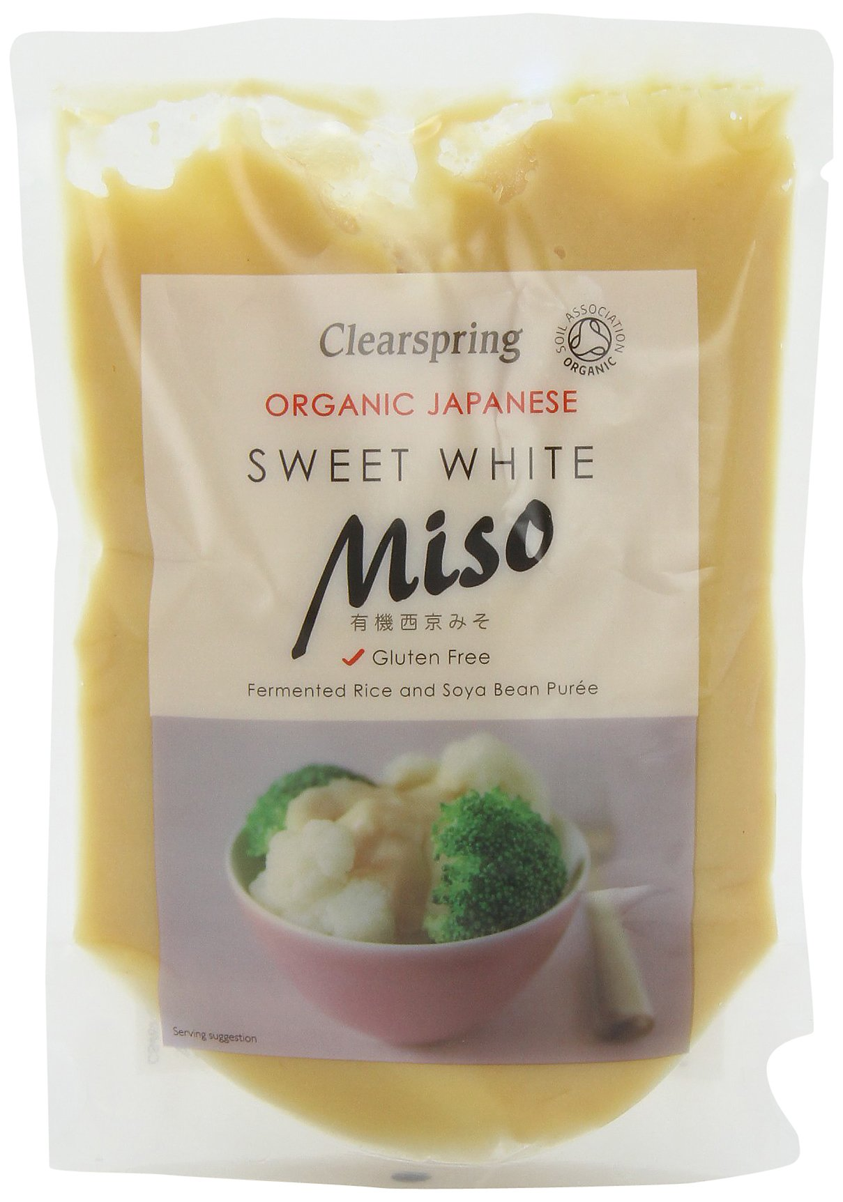 Clearspring Organic Sweet White Miso (250g) - Pack of 2