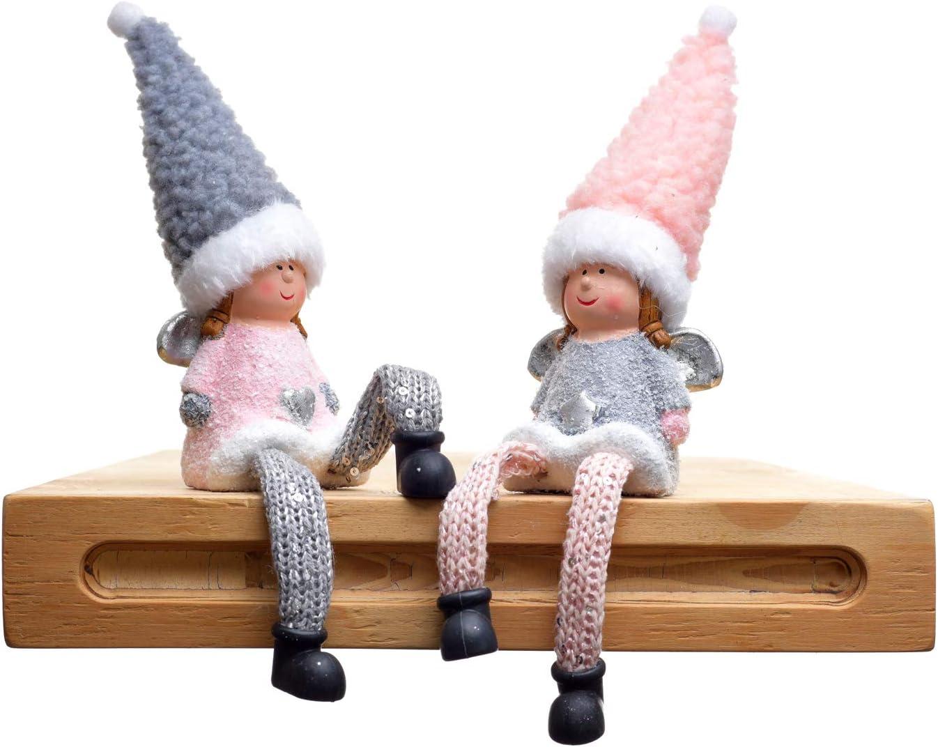 Weihnachtswald Alter Mann Kinder Familie Weihnachten Freunde 3 Modelle Weihnachten Deko Wichtel rot,grau,Rosa Saingace TM grau