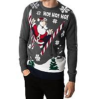 Los adultos Threadbare novedad iluminan los suéteres de Navidad