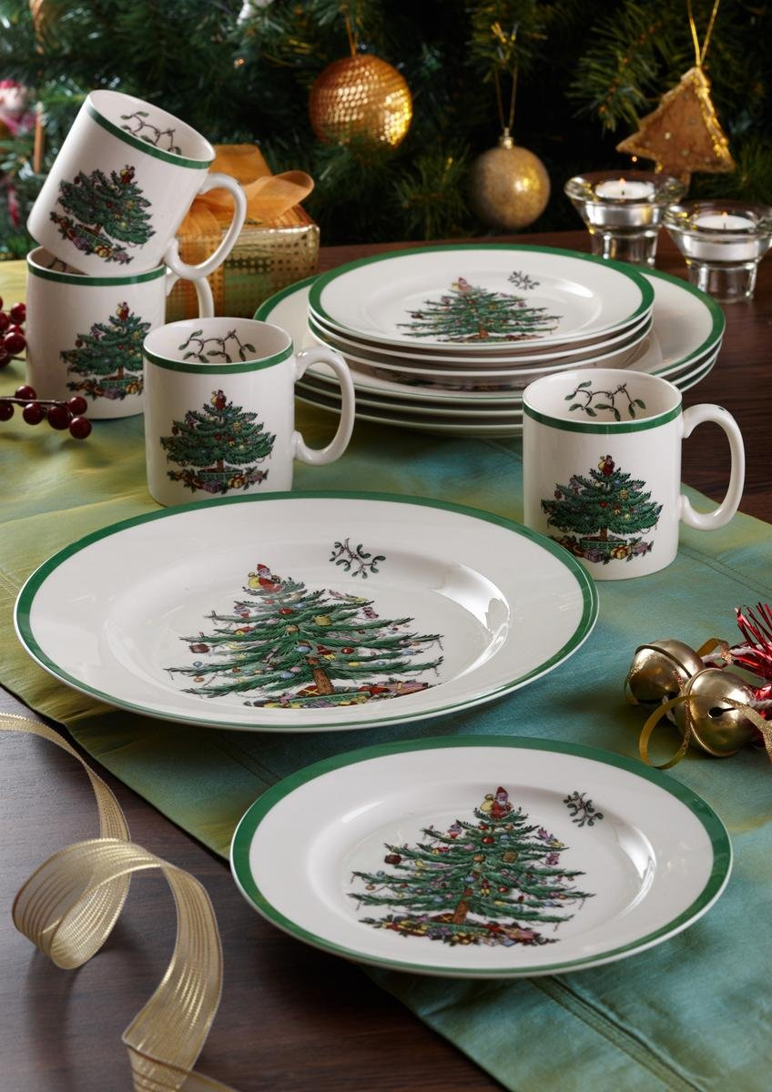Amazon  Spode Christmas Tree Bread And Butter Plate, Set Of 4: Bread &  Butter Plates