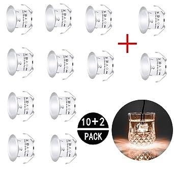 Wundervoll 12 Stück Terrassen Einbaustrahler Warmweiß LED Aussen  QW63