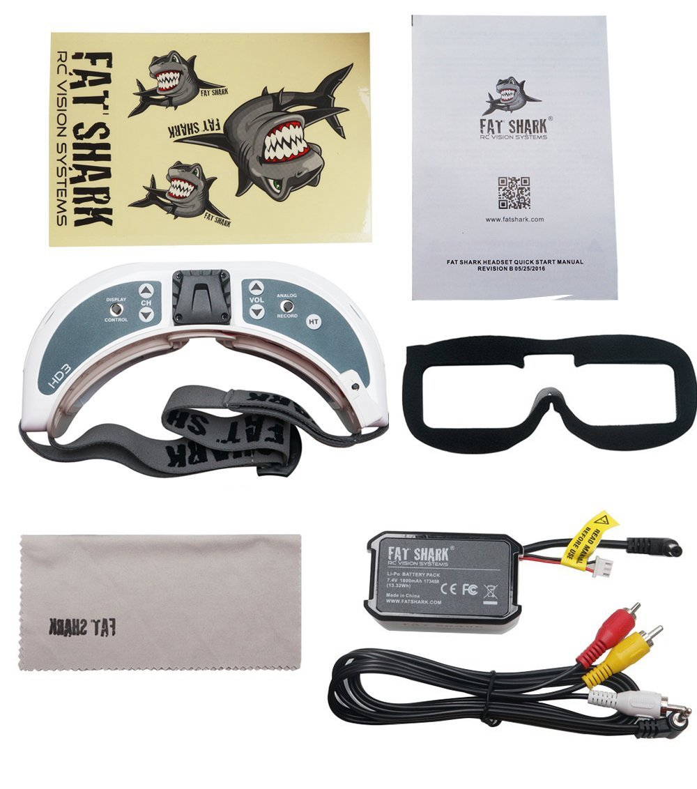 2017 Newest Version! Fat Shark FSV1076 Dominator HD3 HD3s Modular 3D FPV Goggles Headset FAT SHARK by Fat Shark