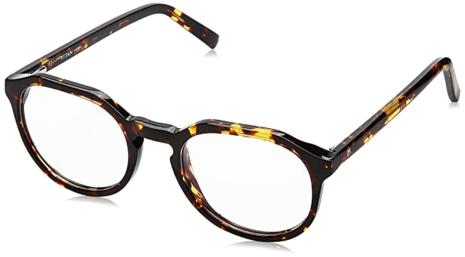 ed32bf66c2 Image Unavailable. Image not available for. Colour  Titan Full Rim Round  Women s Spectacle Frame ...