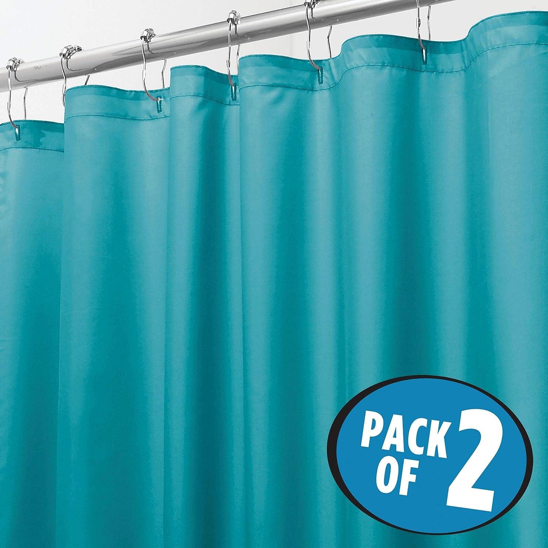 Amazon.com: mDesign Stall-Sized Water Repellent, Mildew Resistant ...