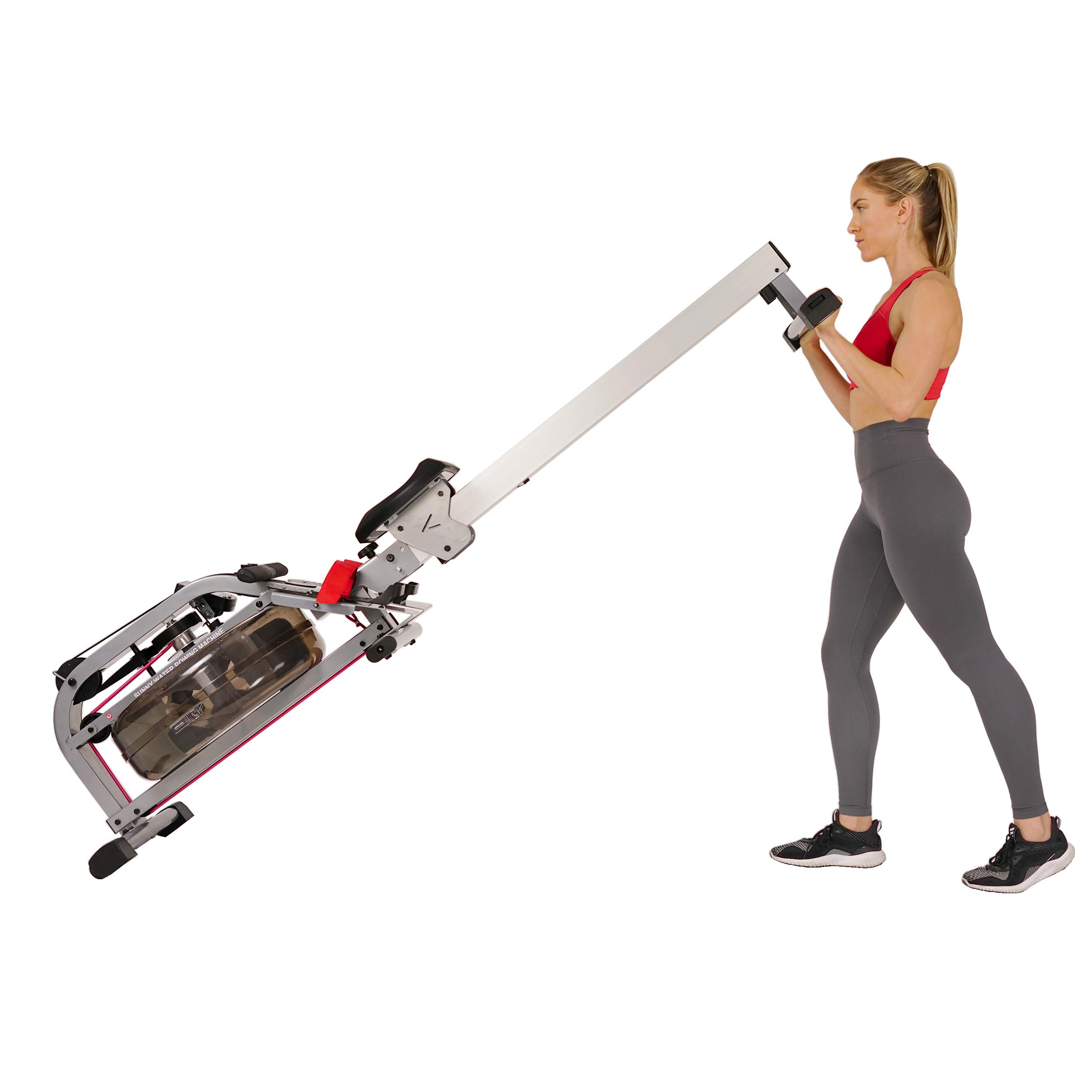Sunny Health & Fitness Water Rowing Machine Rower w/LCD Monitor - SF-RW5866 by Sunny Health & Fitness (Image #11)