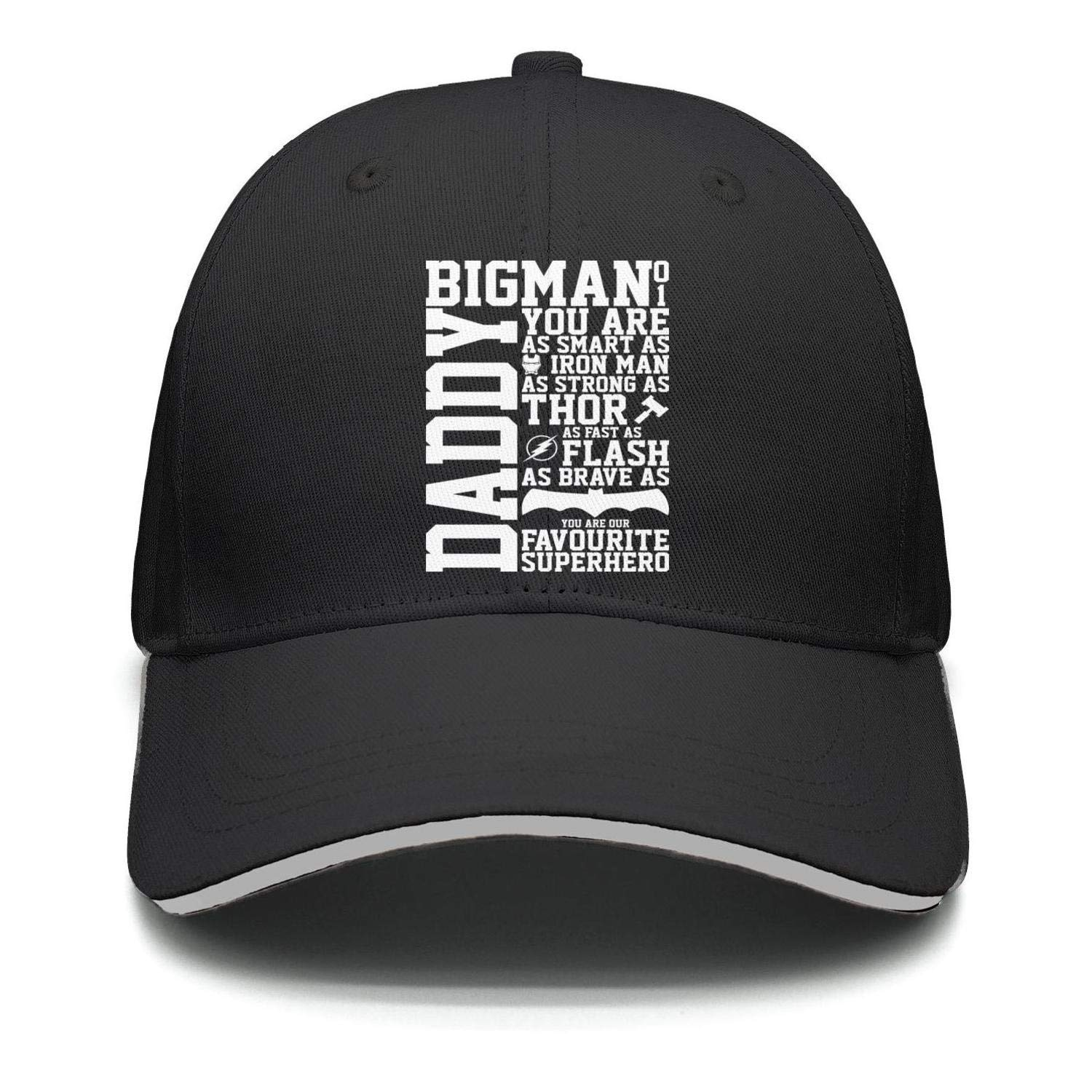 Men Women Baseball Cap Adjustable Youre My Super Hero Dad Fathers Day
