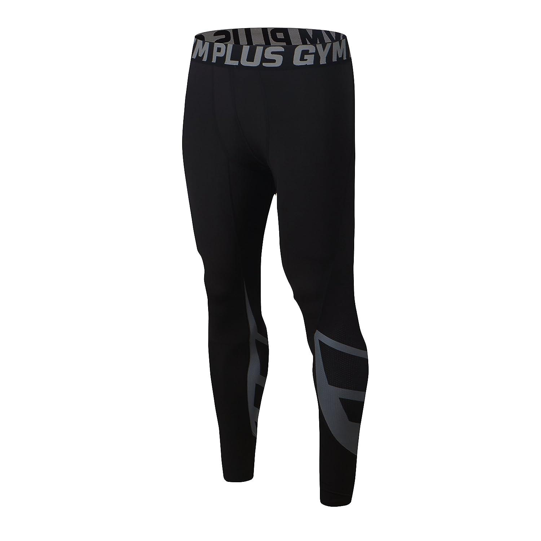 Felicon® pantaloni da ginnastica da uomo sportivo di uomo da uomo a compressione indossare abiti da allenamento ad asciugatura rapida, traspirante, confortevole leggings base Elite fitness Pantaloni termici FELiCON-FE