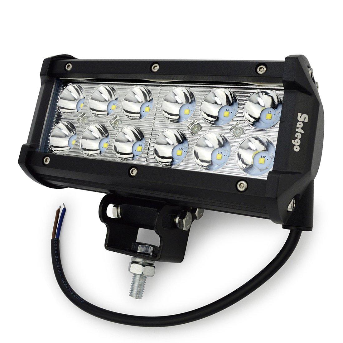 Safego 4 60W LED Arbeitsscheinwerfer Zusatzscheinwerfer 4800LM LED Auto Scheinwerfer Arbeitslicht Offroad SUV ATV 12V 24V IP68 Wasserdicht Car LED Work Light Spotlight 1 Jahr Garantie