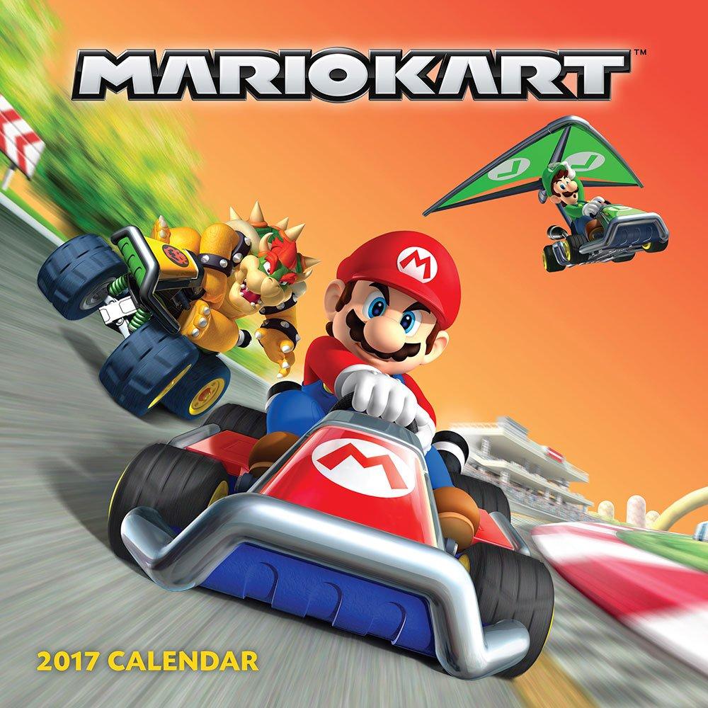 Mario Kart 2017 Wall Calendar Nintendo 9781419720406
