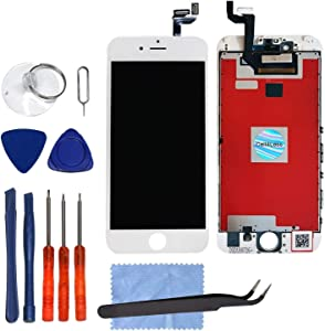 CELL4LESS LCD Touch Screen and Digitizer Assembly for The iPhone 6S Plus 5.5inch (Model A1634, A1687) (for iPhone 6S Plus White)
