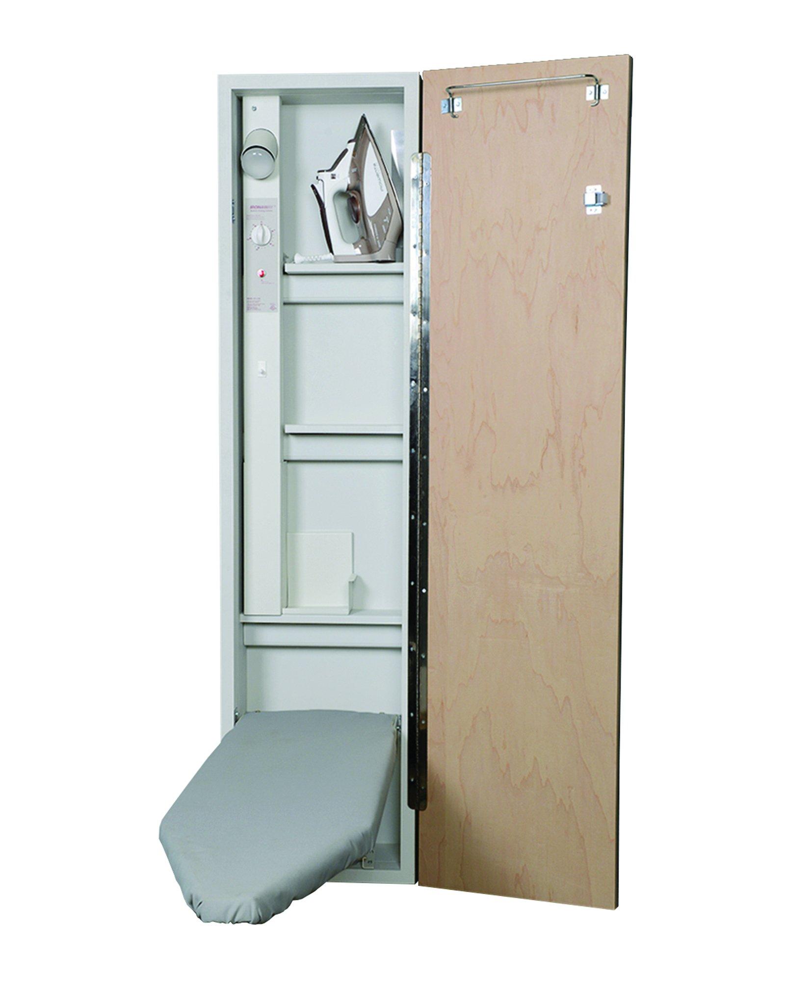 Iron-A-Way Premium Electric Ironing Center, Flat Maple Door