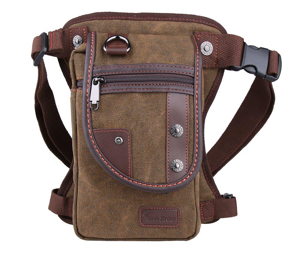 Genda 2Archer Moda Tactical Leg Bag Canvas sport esterno del pacchetto Leg (Blu) (cafe) (Nero) (cafe) LNS6921-2