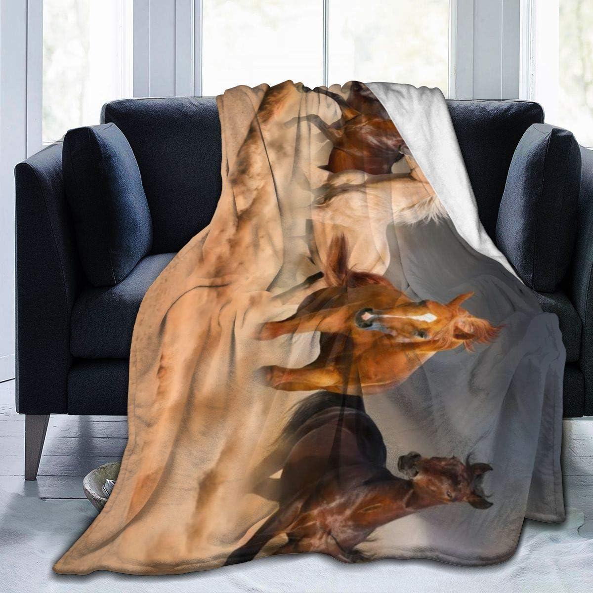 Annays Throw Blanket Manta De Tiro Súper Suave De Caballo para Correr, Cómoda Y Ligera, 102X127Cm, Manta De Lana Cálida, Cama para Sala De Estar, Dormitorio para Todas Las Estaciones