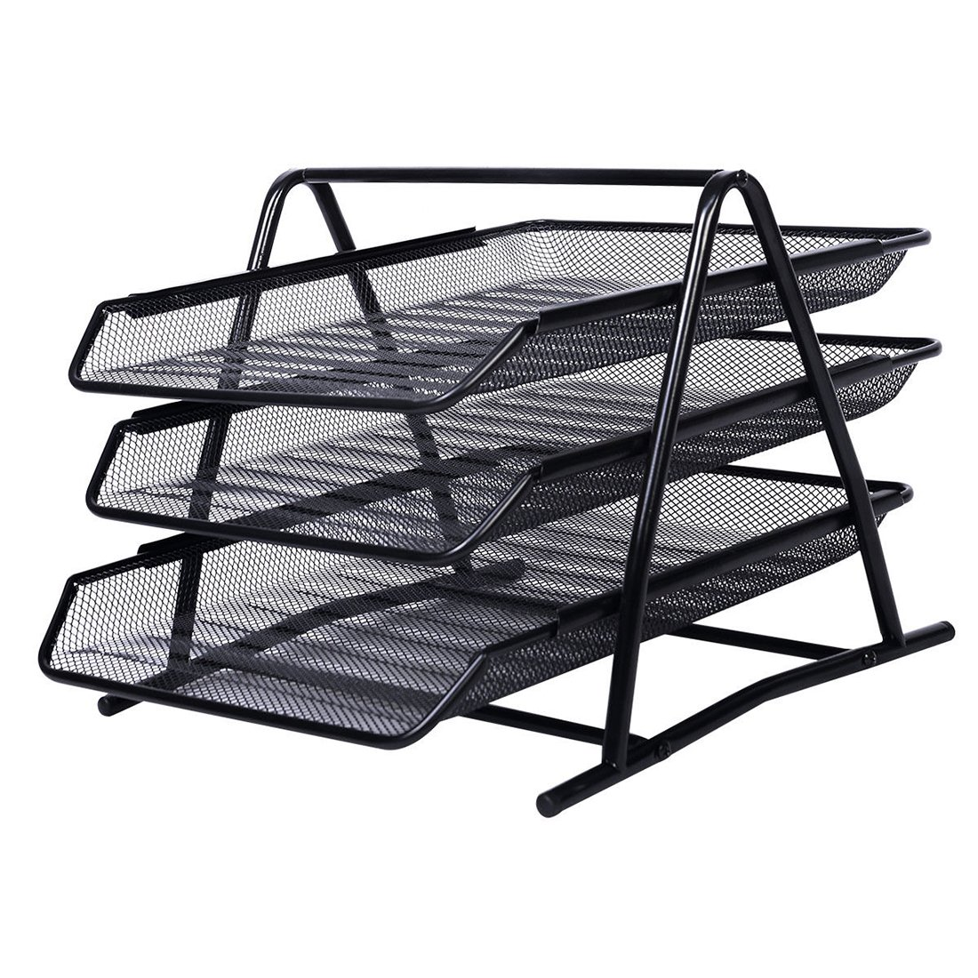 1 Pack Office 3 Tier Heavy Duty Metal Desktop Letter Tray l Document Organizer Tray l Magazine Holder l Paper File Newspaper Organizer Tray kkl456456454