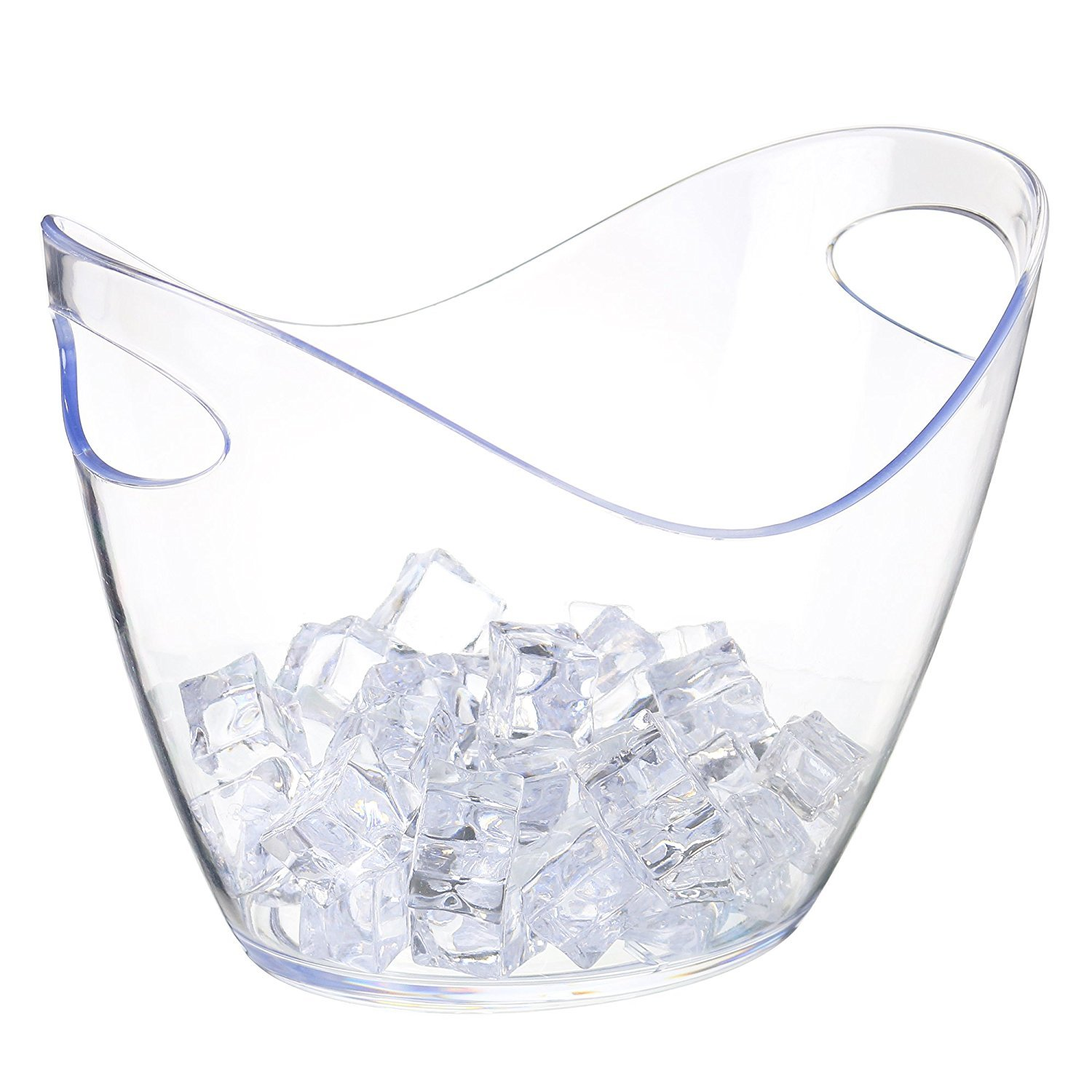 Ice Bucket Clear Acrylic 3.5 Liter Good for up to 2 Wine or Champagne Bottles Ice Bucket Agog