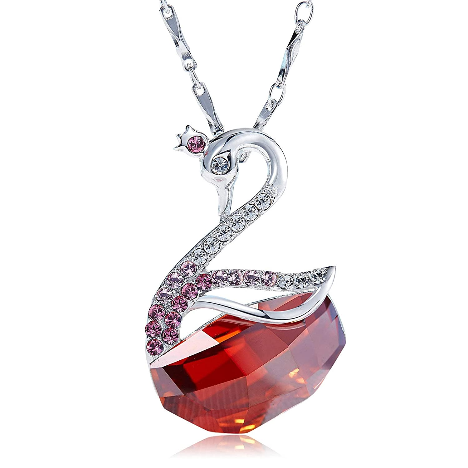 Top Crystal Pendant S925 Sterling Silver Animal Style CZ Necklace