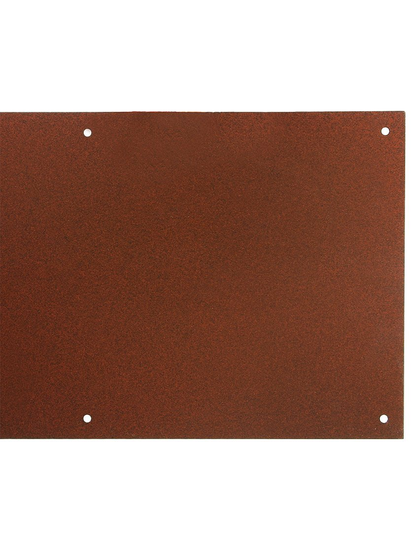 8'' X 34'' Magnetic Mount Weathered Rust Finish Steel Kick Plate