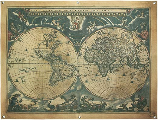 The old World Map large Vintage Style Retro Paper Poster Home decor Lp