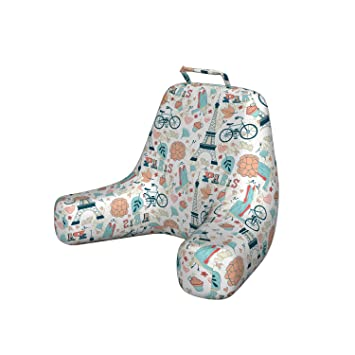 Astonishing Ambesonne Paris Foam Reading Pillow Dove Cupcake Eiffel Tower Flowers Falling Leaves Love Grungy Autumn In France Theme Shredded Visco Bedrest With Gmtry Best Dining Table And Chair Ideas Images Gmtryco