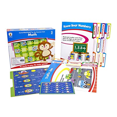 Carson Dellosa Math File Folder Game (140308): Carson-Dellosa Publishing: Office Products