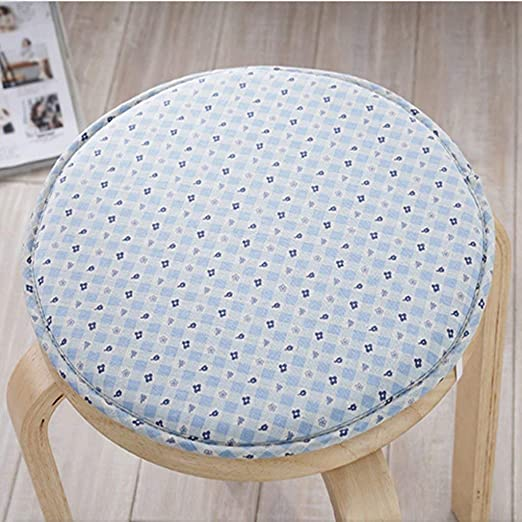 AEXU Sencillo Azul Sólido Patrón de flores Circular Esponja de ...
