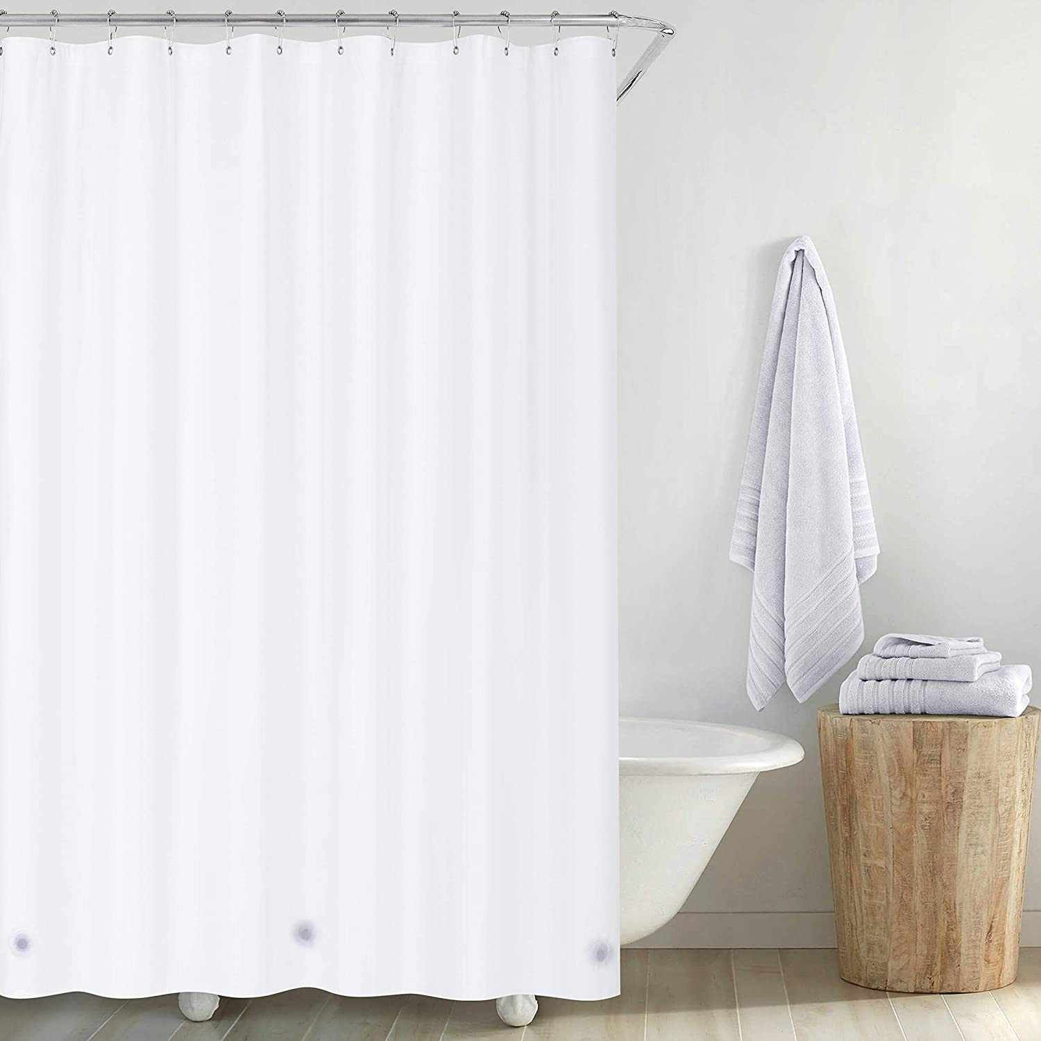 Utopia Bedding 10 Guage Heavy Duty Clear Shower Curtain Liner 72 by 72 Inches Rust Proof Grommets Odor Less and Non-Toxic