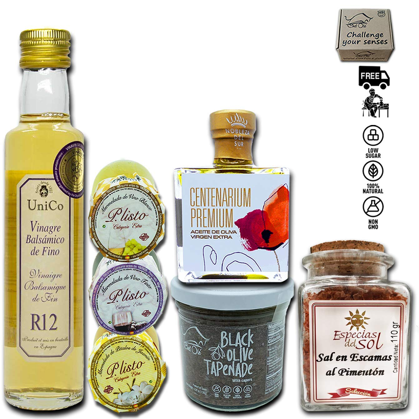 CHEF OLE MASTER GOURMET GIFT BASKET. TIME TO RAISE YOUR COOKING TO A NEW LEVEL.CHEESE PAIRING-SNACKING.IMPORTED FROM SPAIN THE COUNTRY WITH 190 MICHELIN STARS. PERFECT FOR ANY OCCASION.MIRO FOOD BOX.