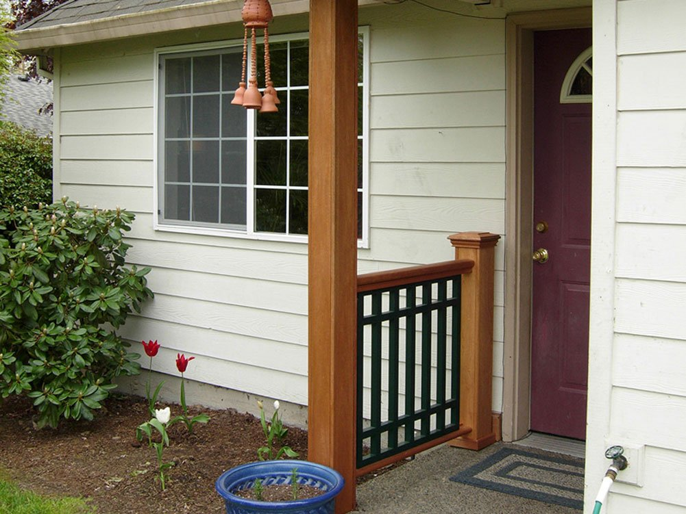 Woodway Products Mahogany Wood Post Sleeve – 96 Inch Unassembled Quick Clad Porch Post Wrap