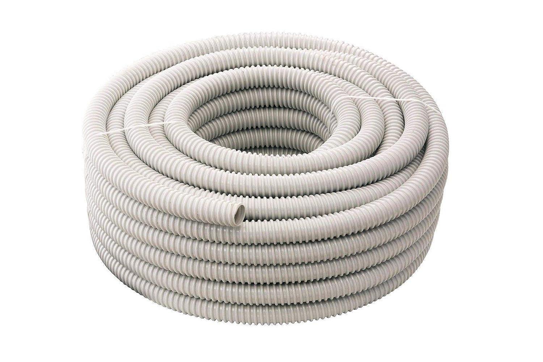 30 MT GUAINA SPIRALATA FLESSIBILE 16 MM PVC GRIGIA TUBO IMPIANTI ELETTRICI SIP