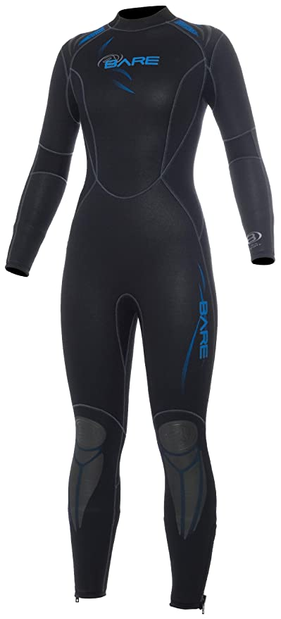 8845c1e0fe Bare 5mm Womens Sport Full Wetsuit for Scuba Diving and Snorkeling (blk blu