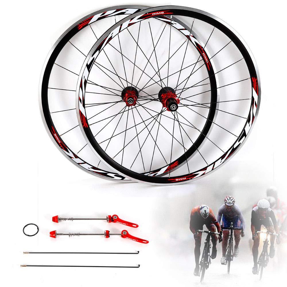 NOPTEG 700C Bicycle Bike Wheel Front Rear Wheel Wheelset Aluminium Alloy Rim 30mm USA by NOPTEG (Image #2)