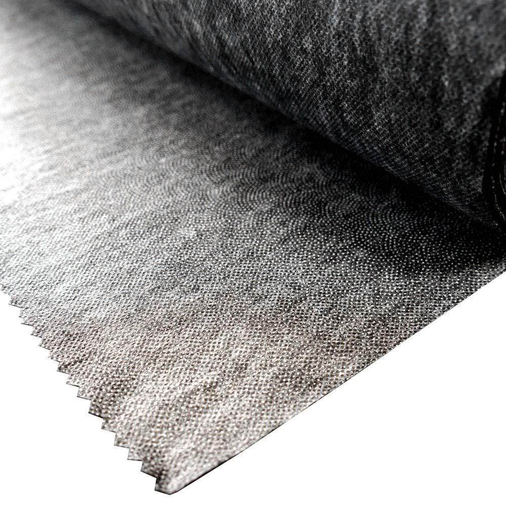 impugnatura morbida adesivo termoadesivo In tessuto non tessuto. color antracite 3 m di lunghezza x 90 cm di larghezza lato singolo Tessuto interfacciale peso medio