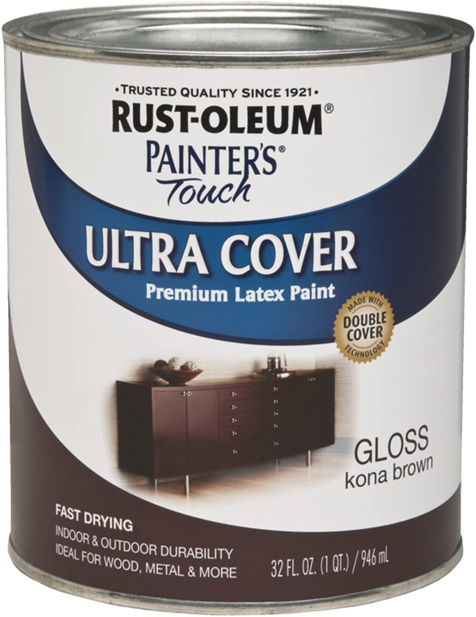 Rust-Oleum 1977502 Painters Touch Latex, 1-Quart, Kona Brown
