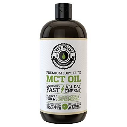 Premium Coconut MCT Oil, Huge 32 Oz. Easier To Absorb and Digest. Triple