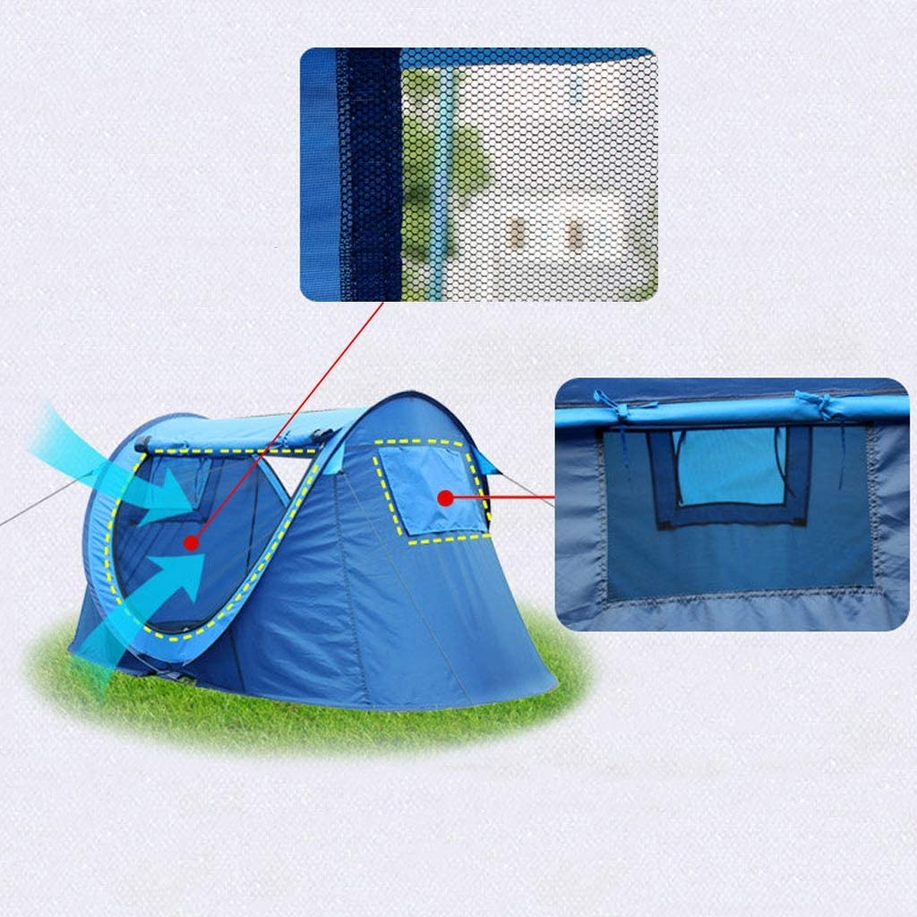 WANG XIN Tienda Familiar Totalmente automática Abrir rápida Protección Solar Protector Solar Portátil Tienda de campaña Ventilación Fácil de Instalar rápidamente Dark green