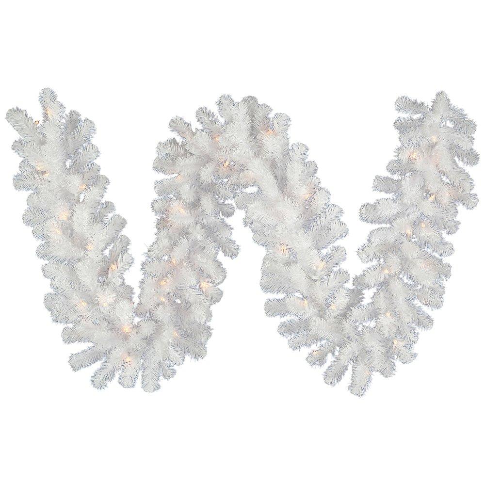 Vickerman 9' x 20'' Crystal White Spruce Artificial Christmas Garland - Unlit