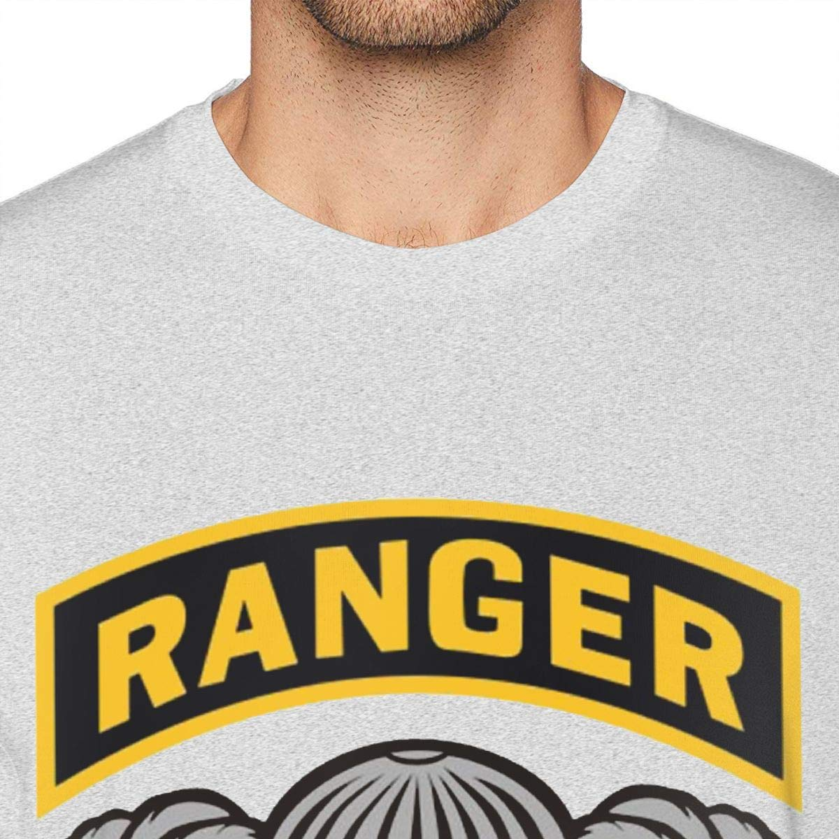 SUMT4men Us Army Ranger Tab Mens Crew Neck Short Sleeve T-Shirt Casual Shirt for Men