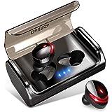【2019最新版 Bluetooth5.0+120時間連続駆動】 Bluetooth イヤホン Hi-Fi高音質 EDRが搭載 IPX7完全防水 自動ペアリング 3Dステレオサウンド CVC8.0ノイズキャンセリング&AAC8.0対応 完全ワイヤレス イヤホン 両耳 左右分離型 自動ON/OFF Siri対応 音量調整 マイク内蔵 充電式収納ケース付き 技適認証済 ブルートゥース スポーツ イヤホン iPhone/Android対応 (T8)