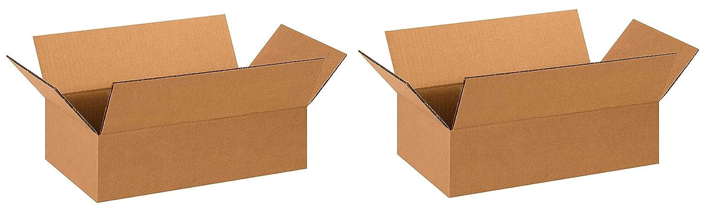 Kraft Aviditi 1484 Corrugated Box 14 Length x 8 Width x 4 Height Bundle of 25